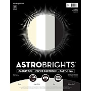 """Astrobrights Cardstock Paper, 65 lbs, 8.5"""" x 11"""", """"Classic Natural"""" 4-Color Assortment, 100/Pack (91648)"""