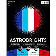 "Astrobrights Cardstock Paper, 65 lbs, 8.5"" x 11"", ""Patriotic"" 4-Color Assortment, 100/Pack (91644)"