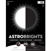 """Astrobrights Cardstock Paper, 65 lbs, 8.5"""" x 11"""", """"Black/White"""" 2-Color Assortment, 100/Pack (91668)"""