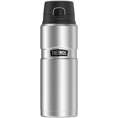 Thermos Sk4000sttri4 Stainless King Vacuum-insulated Drink Bottle, 24oz (silver)