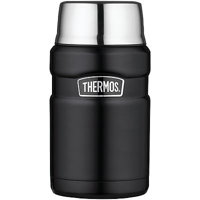 Thermos Sk3020bktri4 Stainless King Vacuum-insulated Food Jar, 24oz (matte Black)