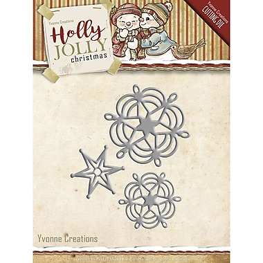 Find It Trading Yvonne Creations Holly Jolly Die-Snowflake & Star