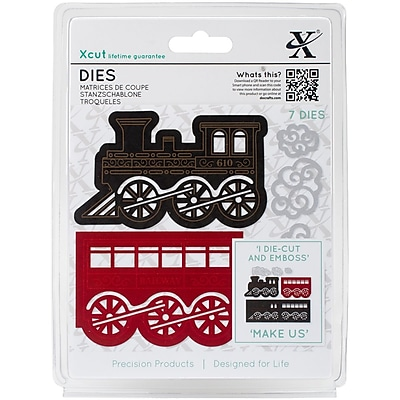 Xcut Decorative Dies 5/Pkg-Christmas Train