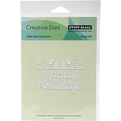 Penny Black Creative Dies-Happy Holly Days