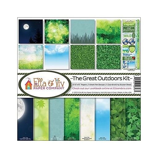 """Ella & Viv Collection Kit 12""""X12""""-The Great Outdoors"""