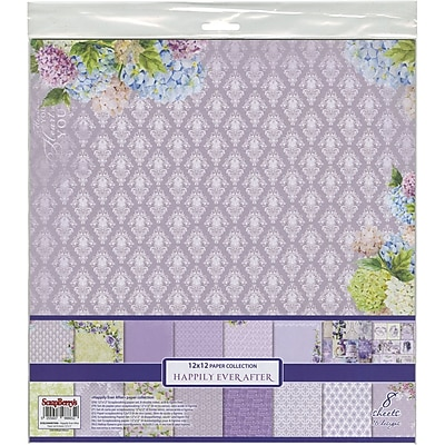 ScrapBerry's Happily Ever After Paper Pack 12