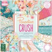"First Edition Premium Paper Pad 12""X12"" 48/Pkg-Paradise Crush, 16 Designs/3 Each"