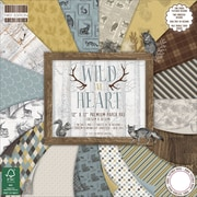 "First Edition Premium Paper Pad 12""X12"" 48/Pkg-Wild At Heart, 16 Designs/3 Each"