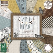 "First Edition Premium Paper Pad 6""X6"" 64/Pkg-Wild At Heart, 16 Designs/4 Each"