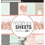 """Mambi Single-Sided Paper Pad 12""""X12"""" 48/Pkg-Rose Marble"""