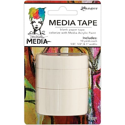 Dina Wakley Media Tape 3/Pkg-Blank
