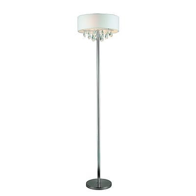 Elegant Designs Incandescent Floor Lamp, White Shade (LF1000-WHT)