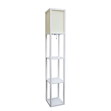 Simple Designs Incandescent Etagere Floor Lamp, White (LF1014-WHT)