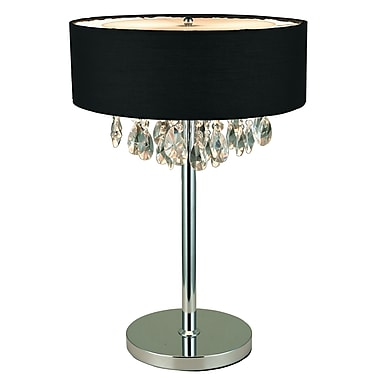 Elegant Designs Table Lamp, Black (LT1023-BLK)