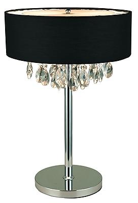 Elegant Designs Table Lamp, Black (LT1023-BLK)