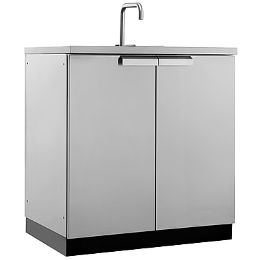 NewAge Products Outdoor Kitchen Sink Cabinet Stainless Steel Classic, 32