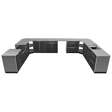 NewAge Products Outdoor Kitchen 17-Piece Set Aluminum Slate, 441
