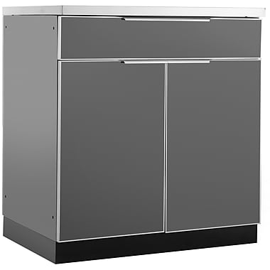 NewAge Products Outdoor Kitchen Bar Cabinet Aluminum Slate, 32
