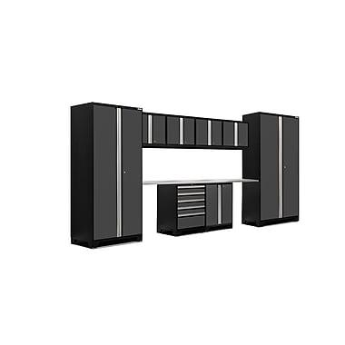 NewAge Products Pro 3.0 Series 10-Piece Garage Cabinet Set, Stainless Steel Worktop, Gray (52054)