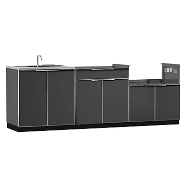 NewAge Products Outdoor Kitchen 3-Piece Set Aluminum Slate, 97