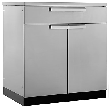 NewAge Products Outdoor Kitchen Bar Cabinet Stainless Steel Classic, 32