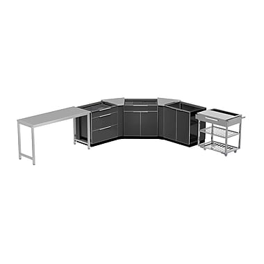 NewAge Products Outdoor Kitchen 7-PieceSet Aluminum Slate, 210