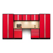 NewAge Products Pro 3.0 Series 8-Piece Garage Cabinet Set, Bamboo Worktop, Red (52292)