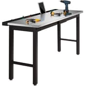 """NewAge Products 72"""" Workbench Stainless steel worktop with Powerbar"""
