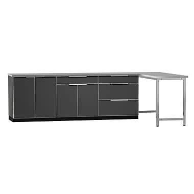 NewAge Products Outdoor Kitchen 5-Piece Set Aluminum Slate, 184