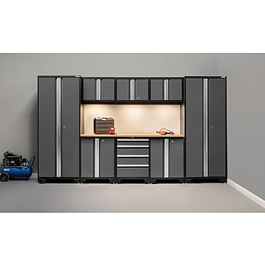NewAge Products Bold 3.0 Series, 9-Piece Garage Cabinet Set, Gray (50111)