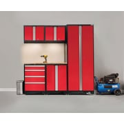 NewAge Products Bold 3.0 Series, 6-Piece Garage Cabinet Set, Red (50298)