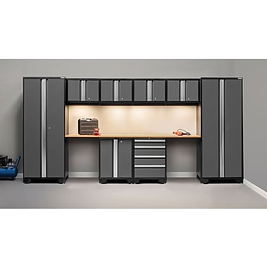 NewAge Products Bold 3.0 Series, 10-Piece Garage Cabinet Set, Gray (50052)