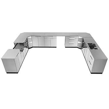 NewAge Products Outdoor Kitchen 17-Piece Stainless Steel Classic, 441