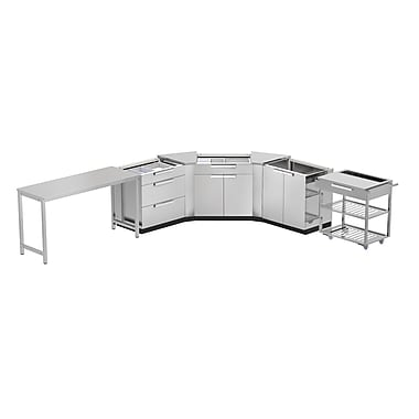 NewAge Products Outdoor Kitchen 7-Piece Stainless Steel Classic, 210