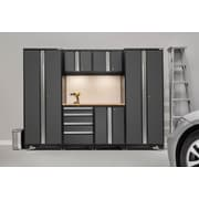 NewAge Products Bold 3.0 Series 7-Piece Garage Cabinet Set, Bamboo Top, Gray (50050)
