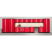 NewAge Products Pro 3.0 Series, 16-Piece Garage Cabinet Set, Red (52357)