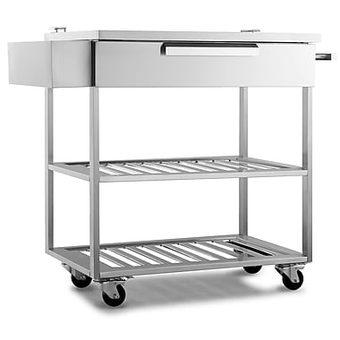 NewAge Products Outdoor Kitchen Bar Cart Stainless Steel Classic,32