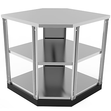 NewAge Products Outdoor Kitchen 90-degree Corner Shelf Stainless Steel Classic (65006)