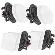 "Pyle Home Pdicbt256 5.25"" Bluetooth Ceiling/wall Speakers, 4 Pk"