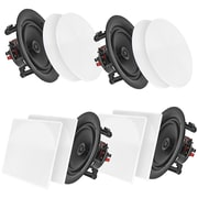"Pyle Home Pdicbt266 6.5"" Bluetooth Ceiling/wall Speakers, 4 Pk"