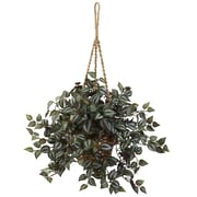 "Nearly Natural Wandering Jew Hanging Basket 20"" Green (6854)"