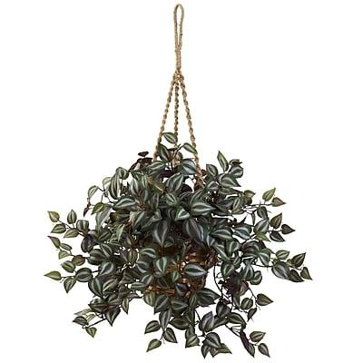 Nearly Natural Wandering Jew Hanging Basket 20