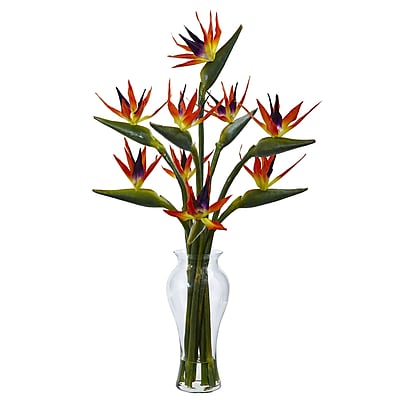 Nearly Natural Birds of Paradise in Vase 19