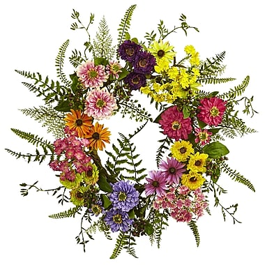Nearly Natural Mixed Flower Wreath 22