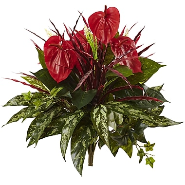 Nearly Natural Mixed Anthurium Bush 24