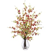 "Nearly Natural Cherry Blossom in Glass Vase 26"" Pink (1459-PK)"