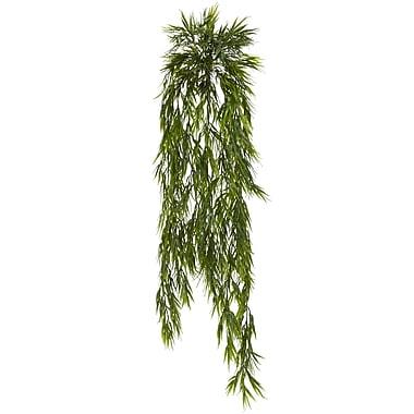Nearly Natural Mini Bamboo Hanging Bush 43 in. Green (6074-S2)