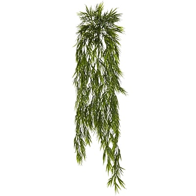 Nearly Natural Mini Bamboo Hanging Bush 43 in. Green (6074-S2)