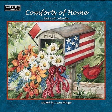 WSBL Comforts Of Home 2018 12X12 Wall Calendar (18997001724)