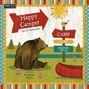 WSBL Happy Camper 2018 12X12 Wall Calendar (18997001723)